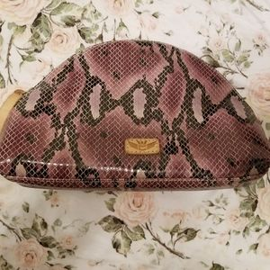 Margot Large snakeskin print Cosmetic Consuela Bag